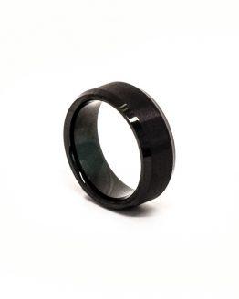 Tungsten black bezel ring